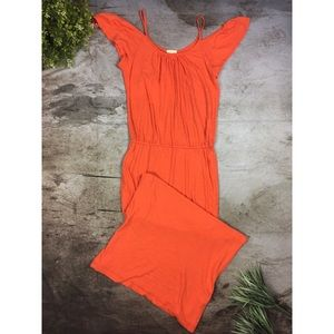Soft Joie Jassina Cold Shoulder Ruffle Maxi Dress